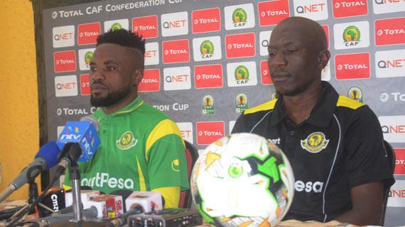 Gor, Yanga roll sleeves for do or die CAF  tie