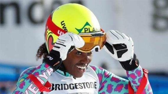 Kenya's Sabrina finishes 38th in downhill Winter Skiing in Pyeongchang