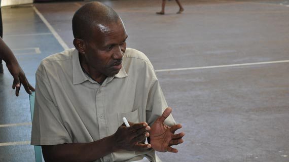 Basketball coach Smatts Olumbo passes on