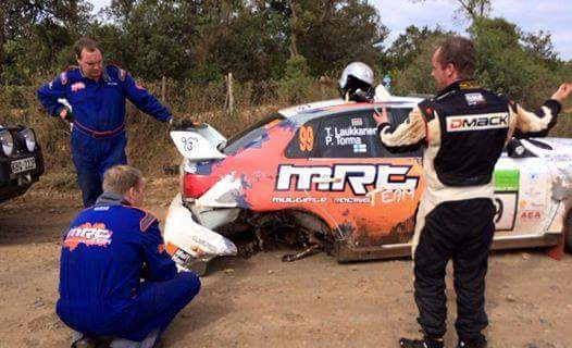 Flying Laukkanen drops out of Safari Rally