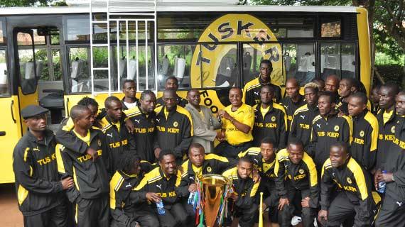 Tusker FC receives new bus and 1Million bonus