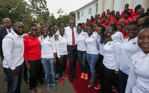 President Kenyatta tells sports federations to style up, pay up dues