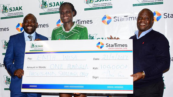 Edith Wisa scoops StarTimes Monthly Sports personality award